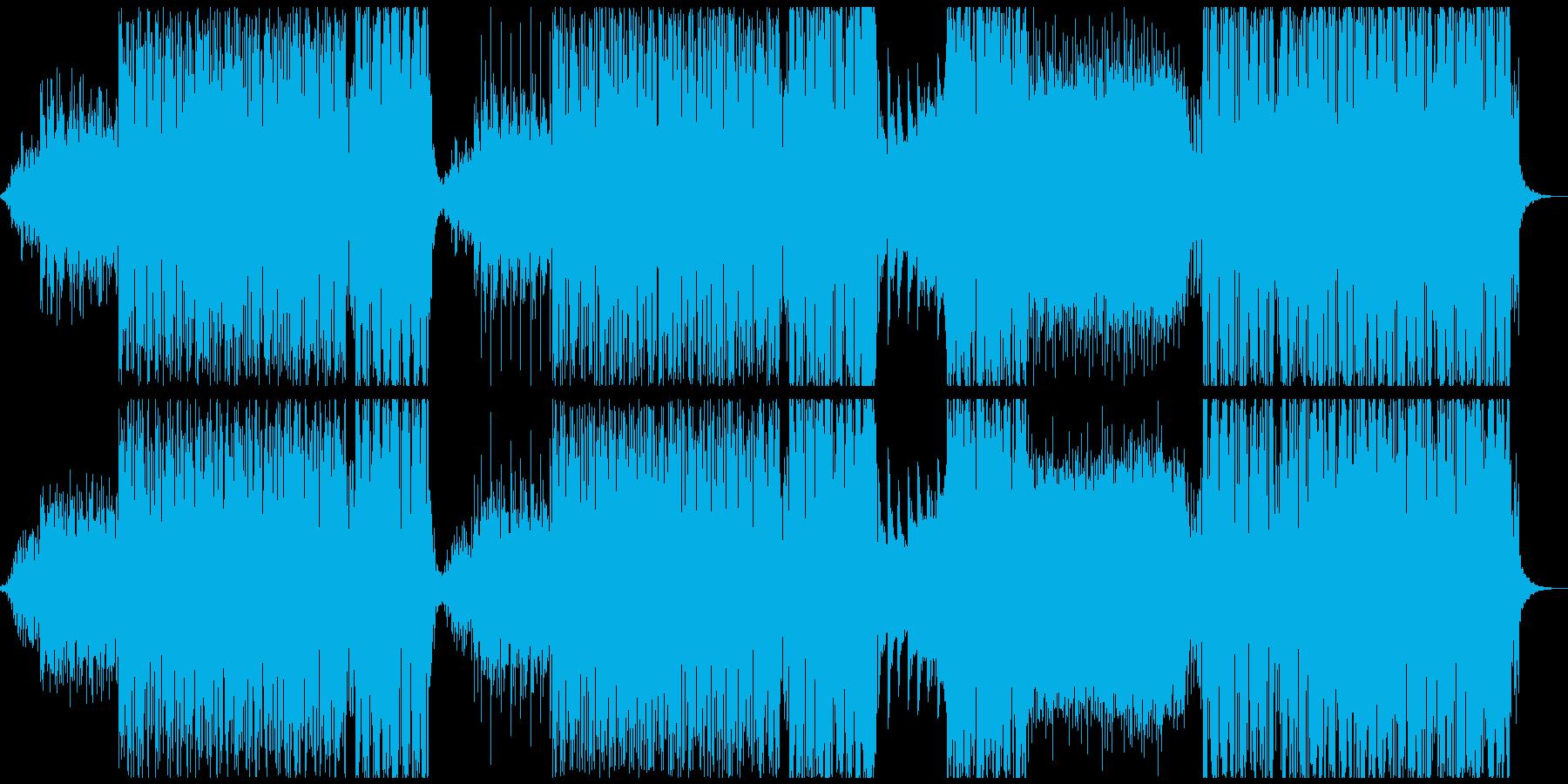 ウエット感のあるトロピカルハウスの再生済みの波形
