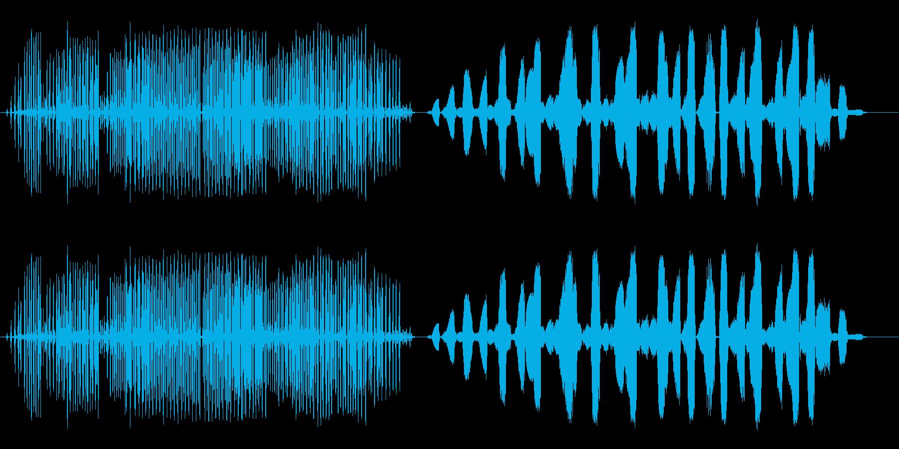 緑のカエルの再生済みの波形