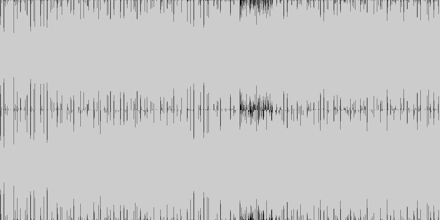 疾走感のあるシンプルなドラムンベース2の未再生の波形