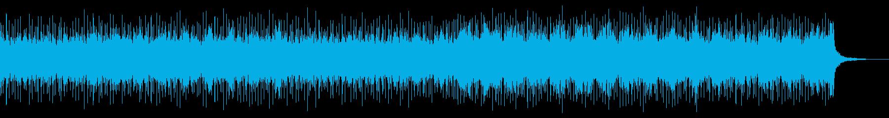 重厚で美しいバンドロックBGMの再生済みの波形
