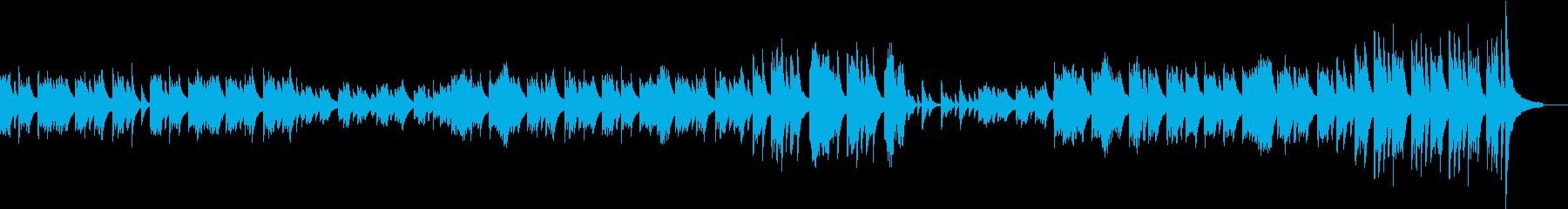 出会いを表現したピアノの再生済みの波形