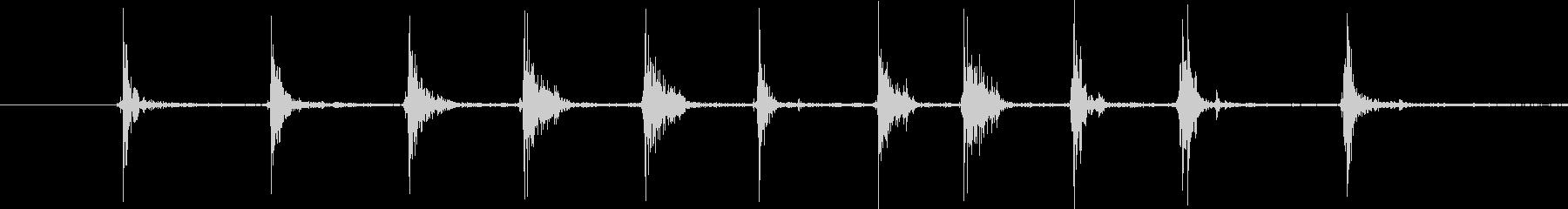 カチカチ、工具・ラチェットレンチの音の未再生の波形