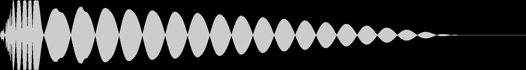 DTM Kick 43 オリジナル音源の未再生の波形
