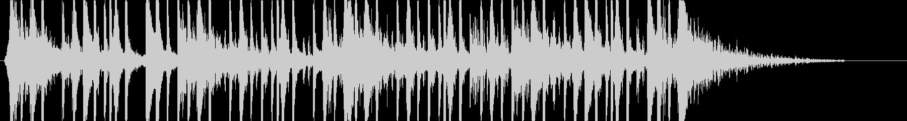 CM映像向けドラムとクラップのストンプ曲の未再生の波形