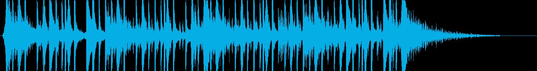 CM映像向けドラムとクラップのストンプ曲の再生済みの波形