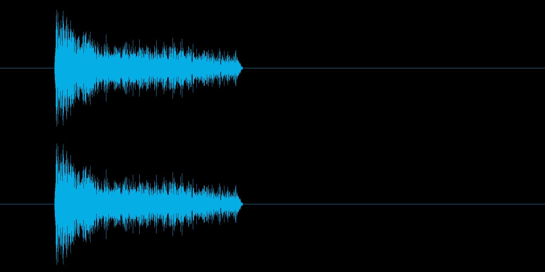 ジャン!懐かしのオケヒその1_音程低めの再生済みの波形