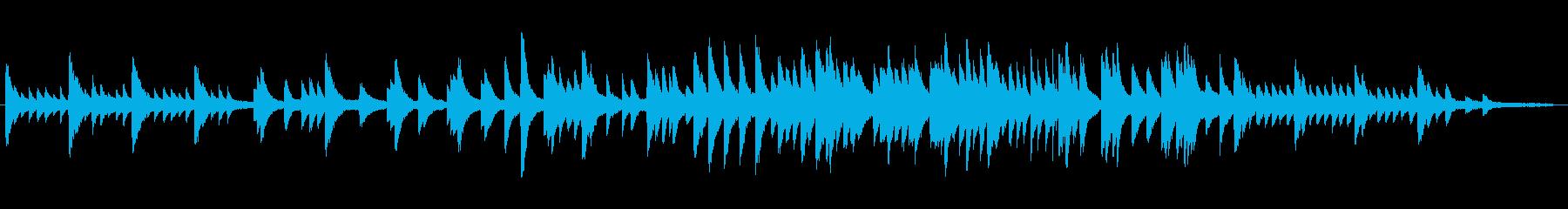 切ないメロディのピアノソロ曲の再生済みの波形