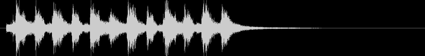 ピチカートの場転用ジングルの未再生の波形