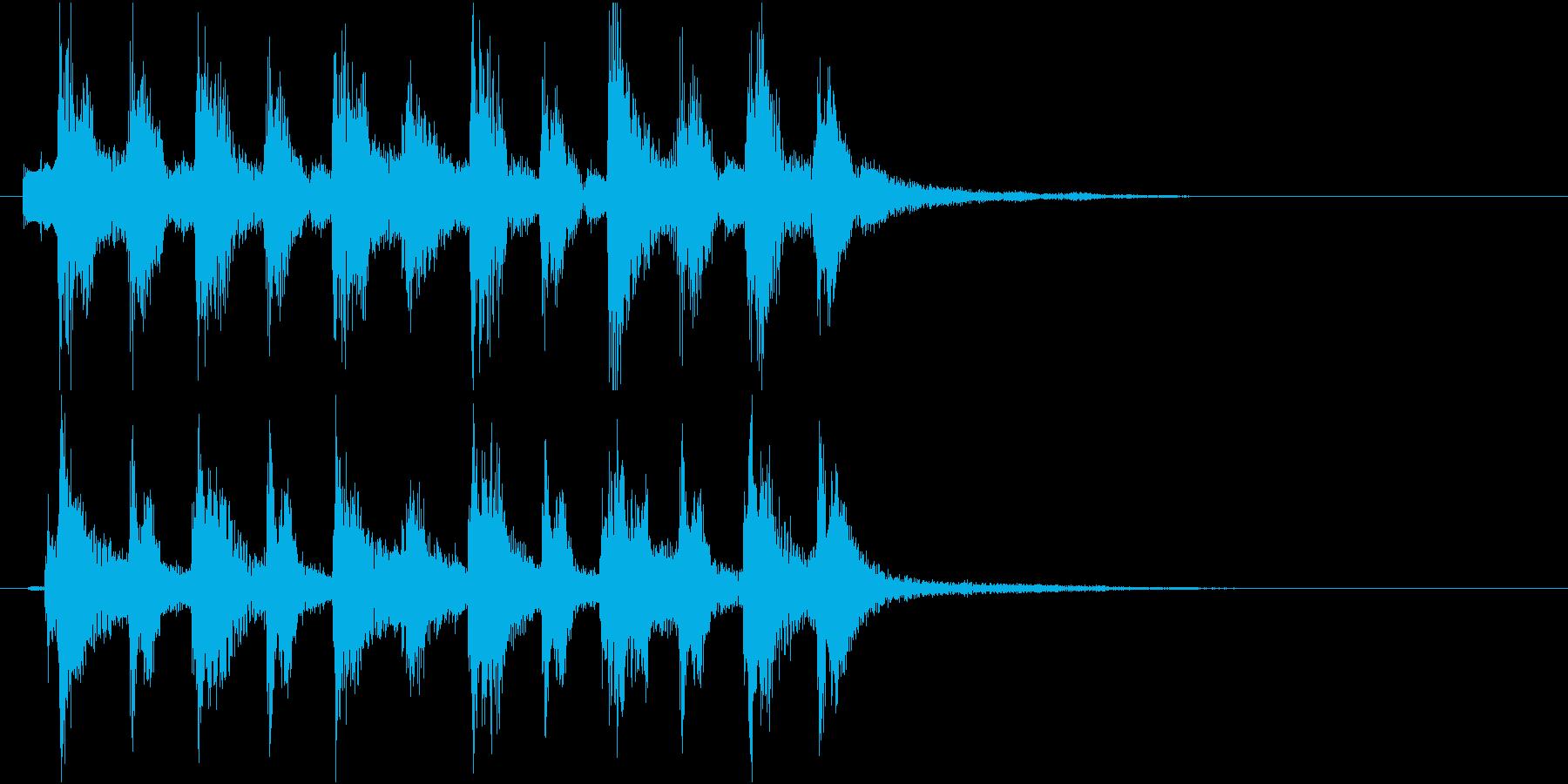 ピチカートの場転用ジングルの再生済みの波形