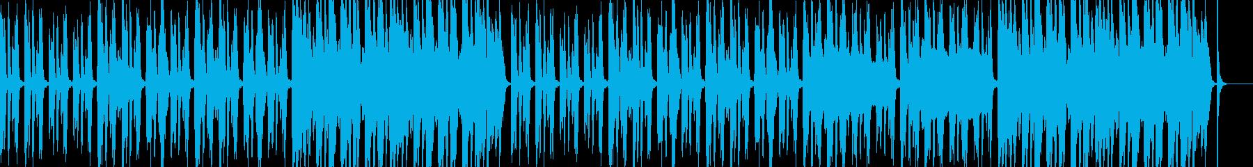 いつも通りの日常を感じさせる曲の再生済みの波形