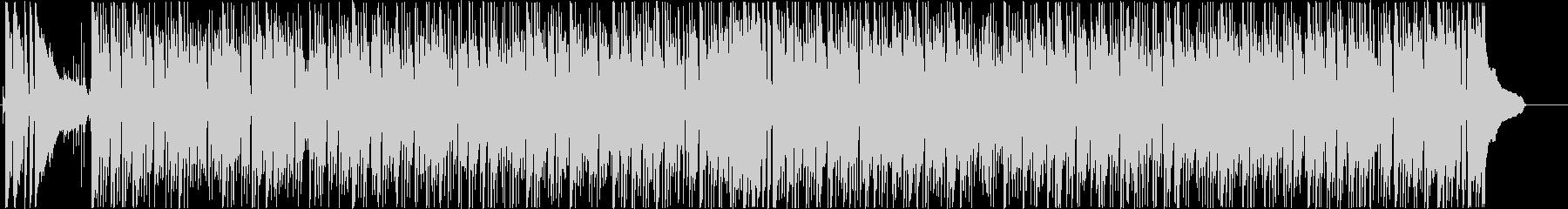 明るく爽やかなボサノバ調のBGMの未再生の波形