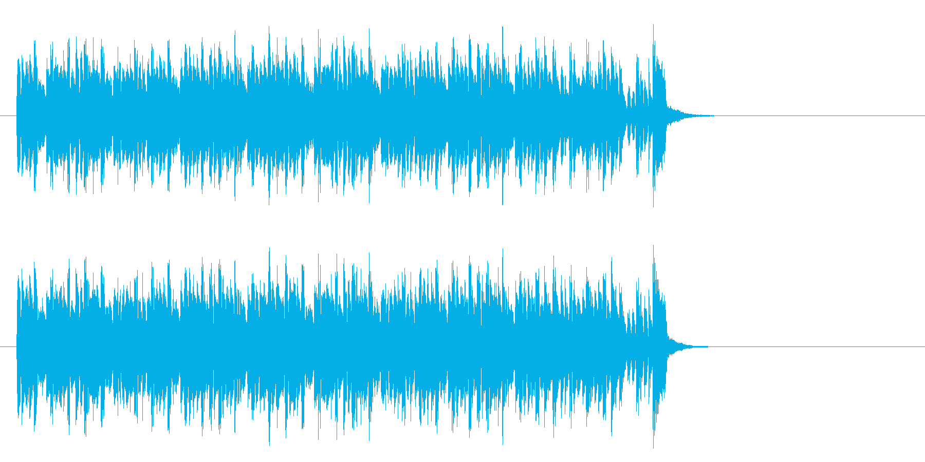 キャッチーなテクノポップ(サビ)の再生済みの波形