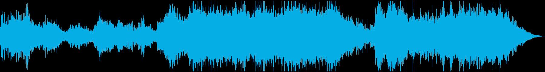 スペーシーなアンビエント音楽の再生済みの波形