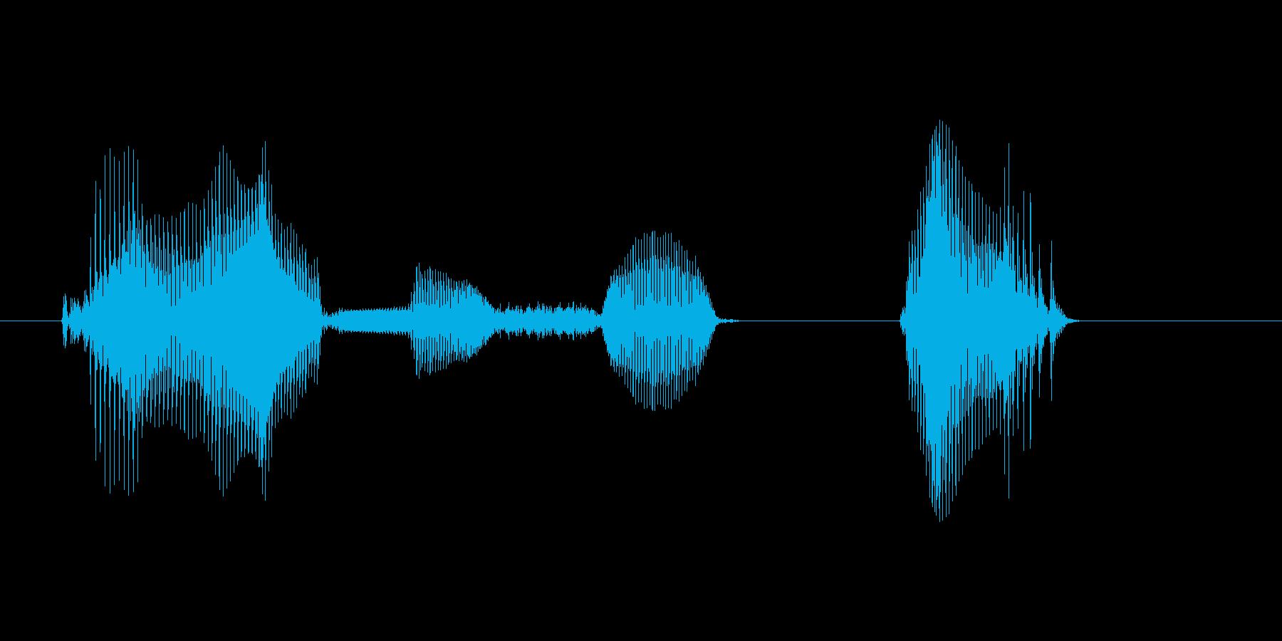 ゲームセット(女性)の再生済みの波形