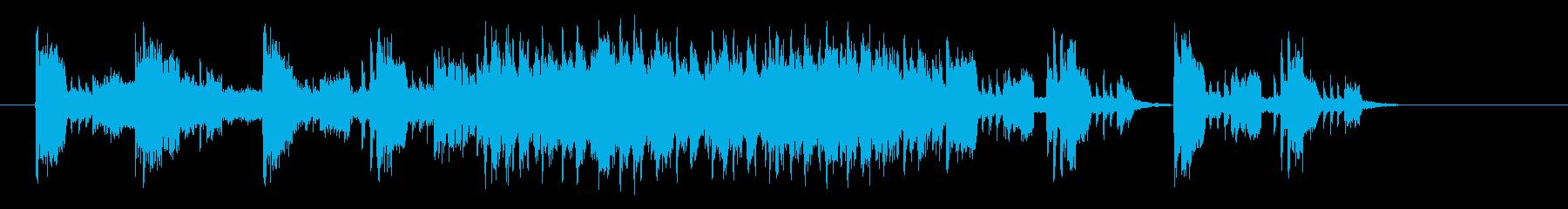 機械的なテクノポップスの再生済みの波形