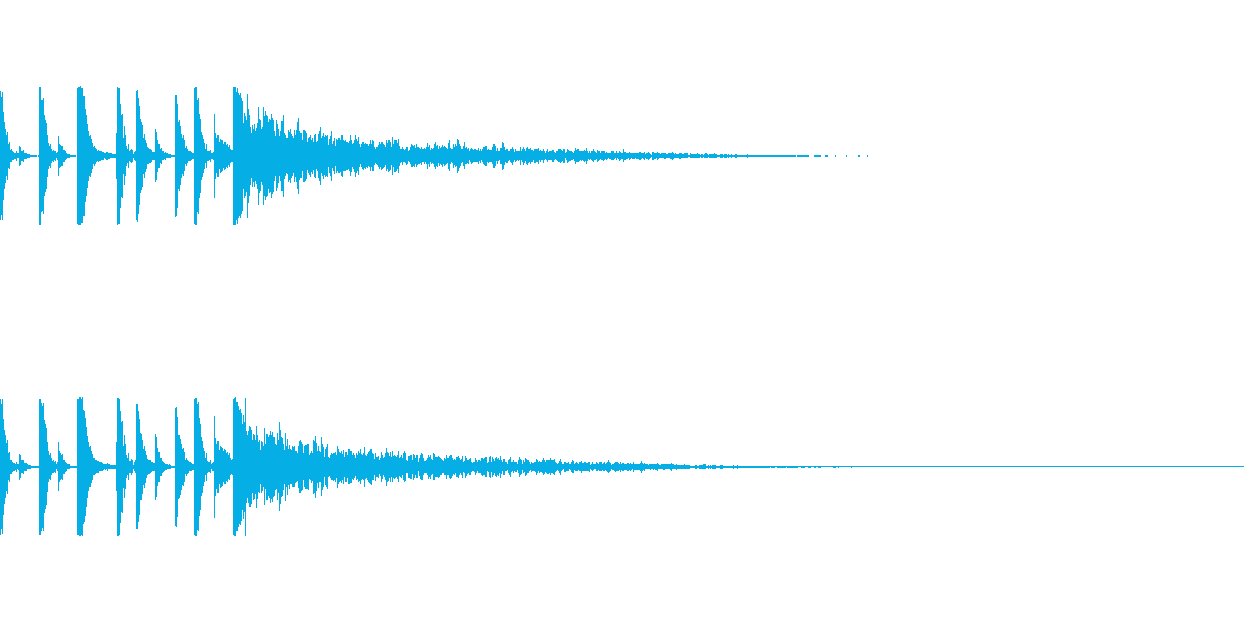 定番リズムの最後に衝撃!の再生済みの波形