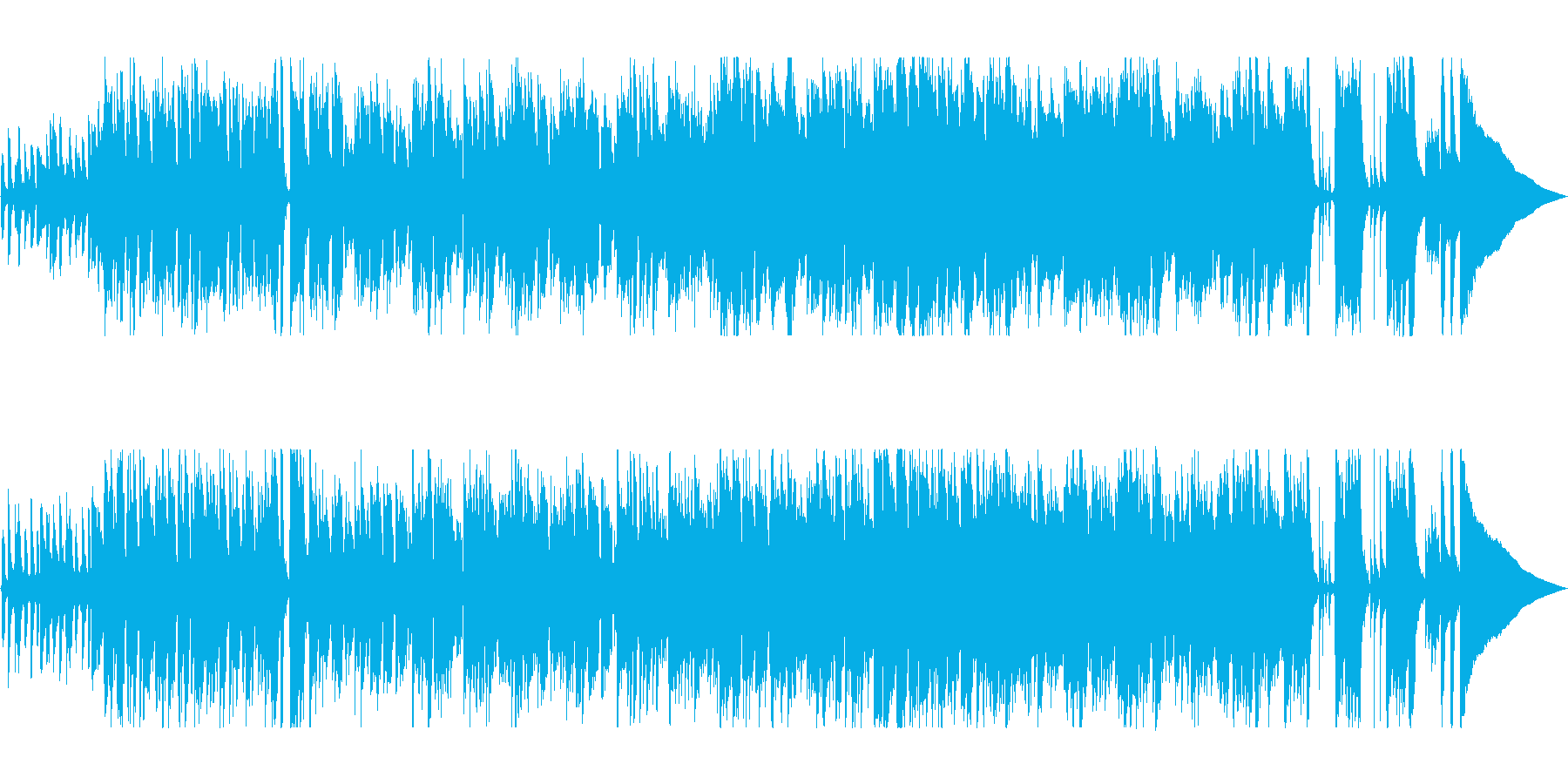 休日に彩りを添えるボサノヴァの再生済みの波形
