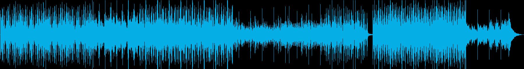 ピアノを使ったサスペンスBGMの再生済みの波形
