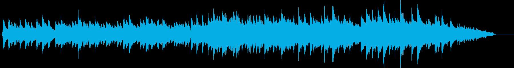 ピアノの旋律が印象的な、和風BGMの再生済みの波形