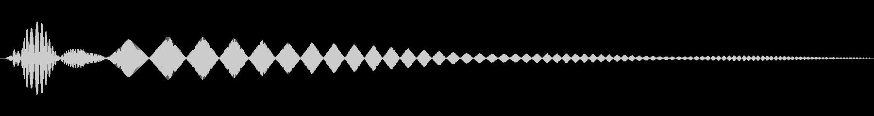 マルチピッチインターフェイスのボタ...の未再生の波形
