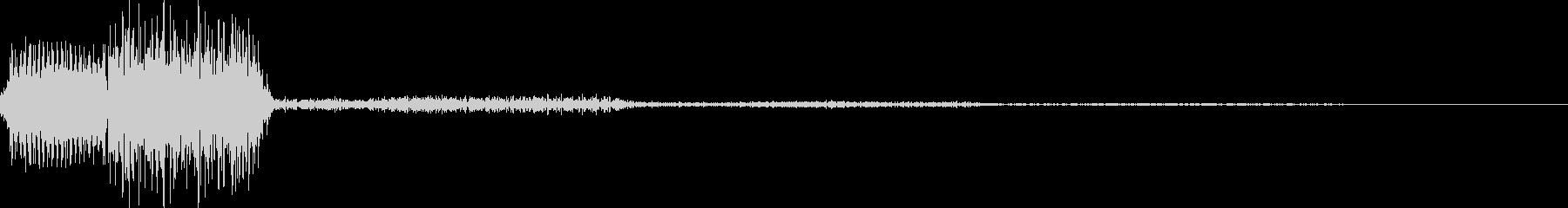 ピロッ2(カーソル移動 決定 選択)の未再生の波形