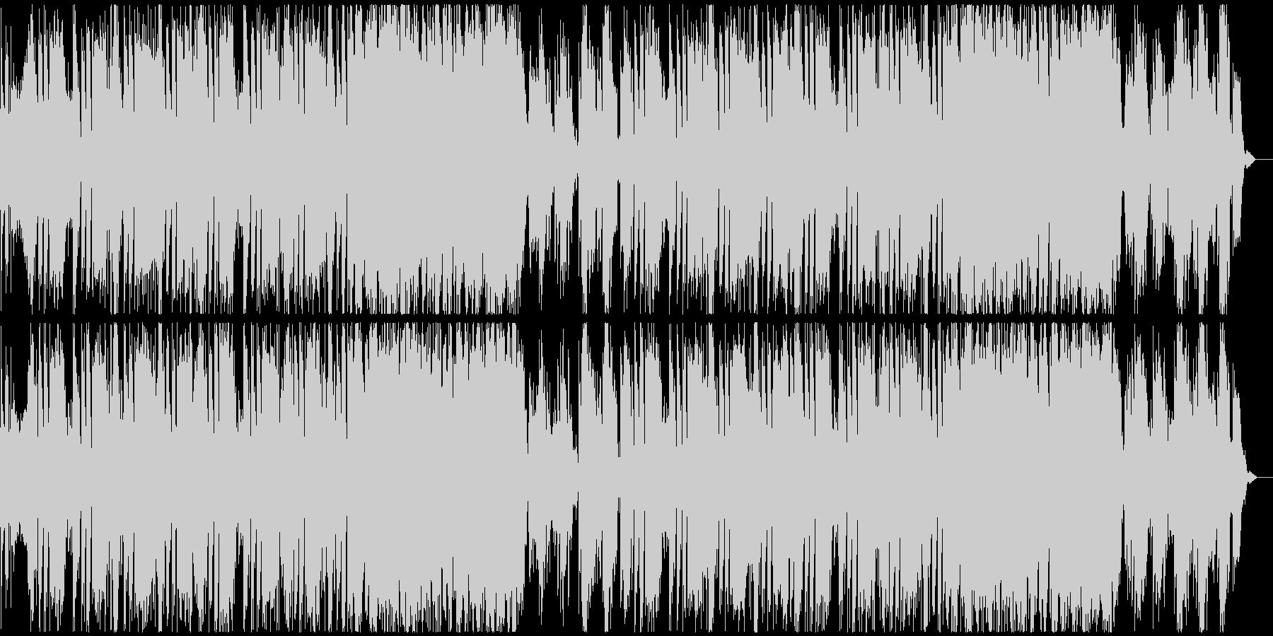 車のCMで流れる様なパワフルな曲の未再生の波形