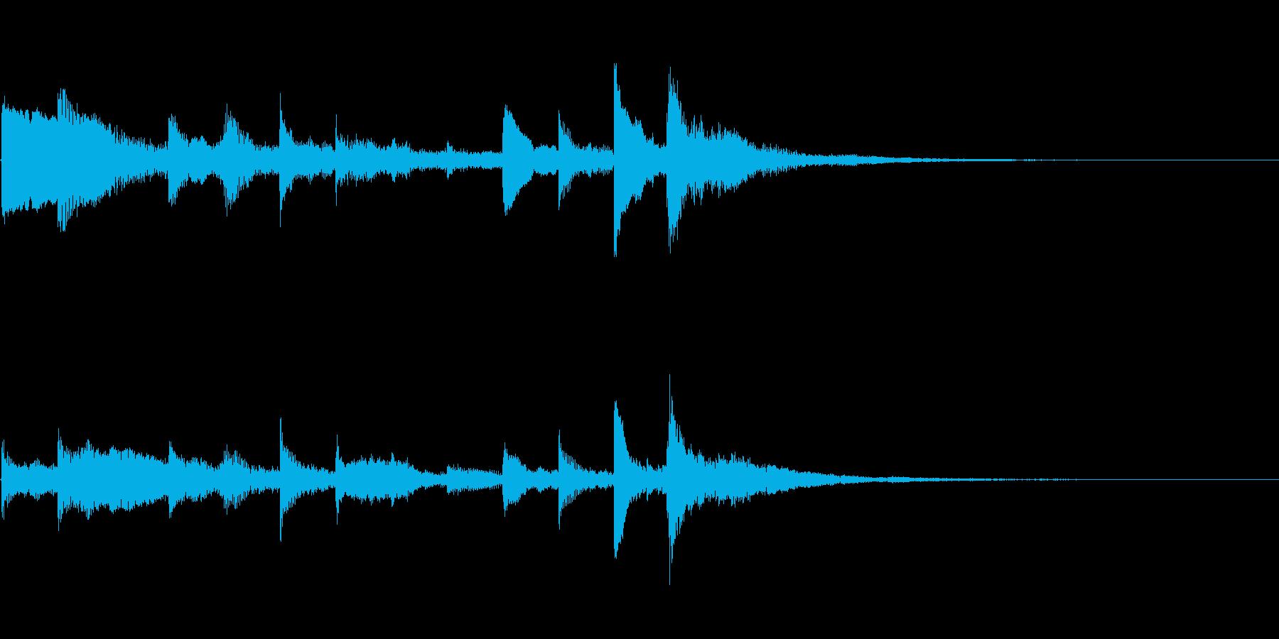 ハープを使ったシンプルなサウンドロゴの再生済みの波形