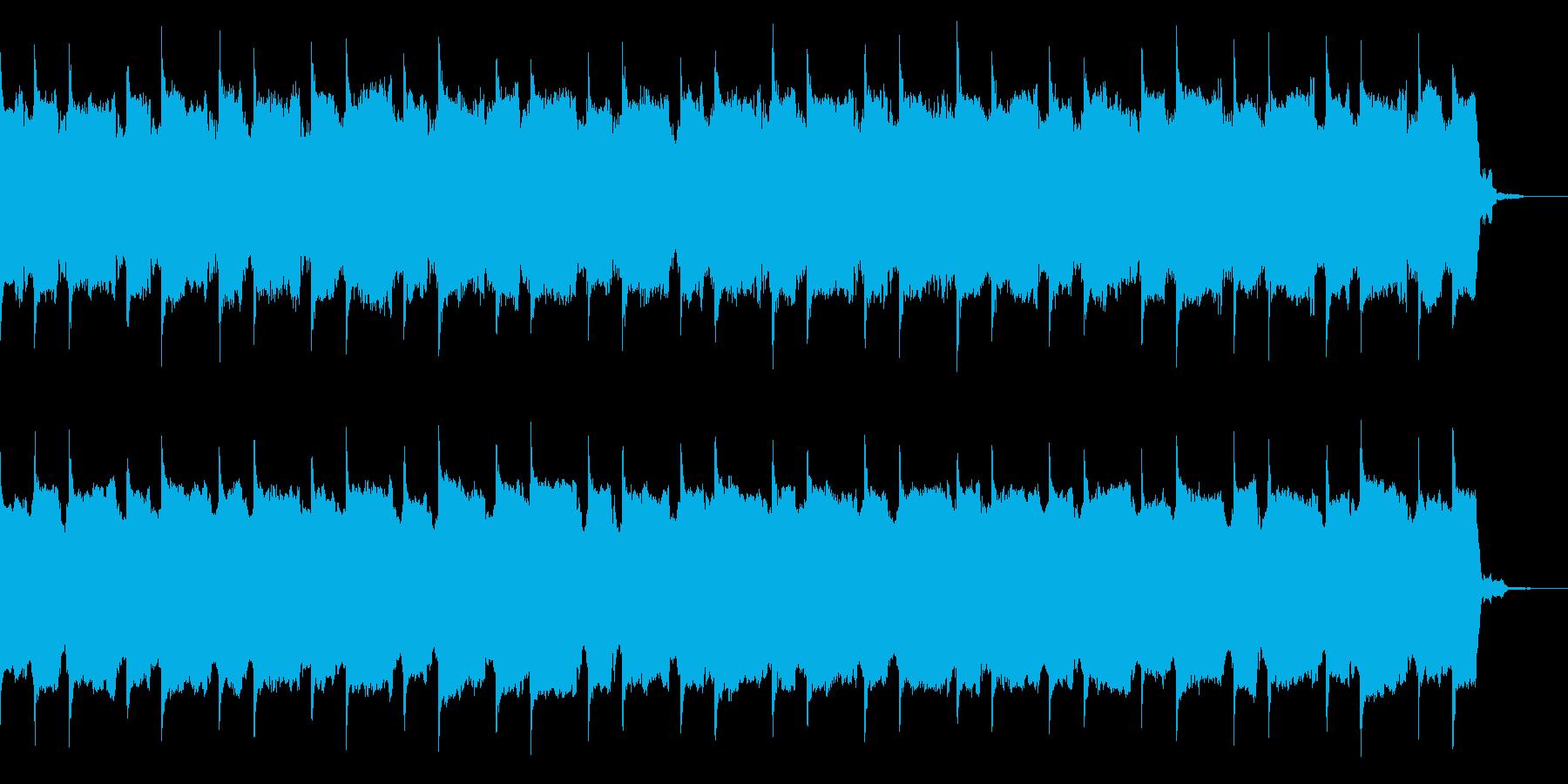 シリアスで感動的な歪んだシンセのインストの再生済みの波形