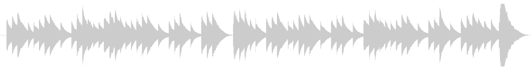 儚げなオルゴールのBGMの未再生の波形