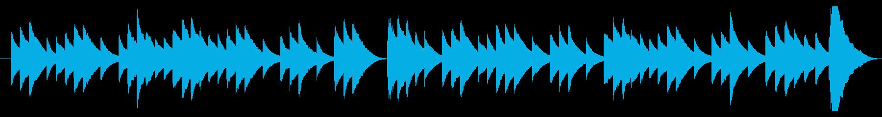 儚げなオルゴールのBGMの再生済みの波形