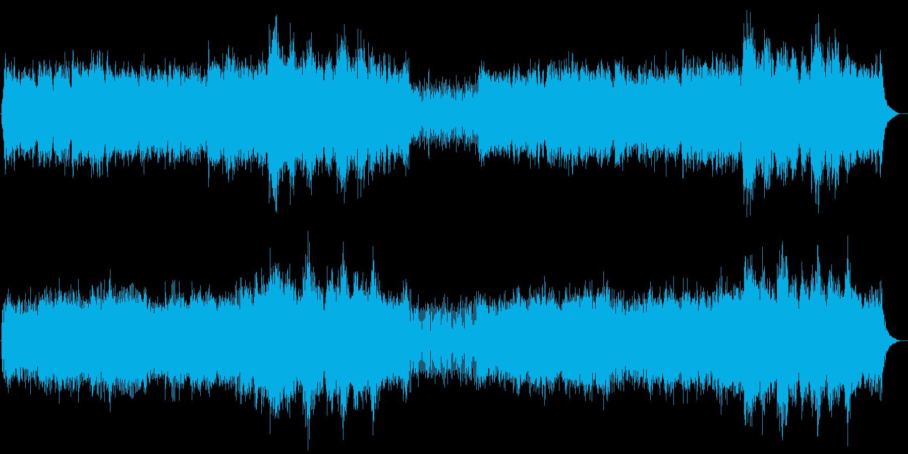 シンプルで荘厳なシンセミュージックの再生済みの波形