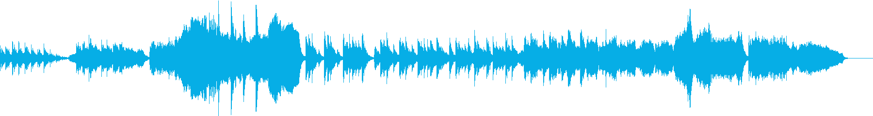 イルミネーションの美しいイメージの曲の再生済みの波形
