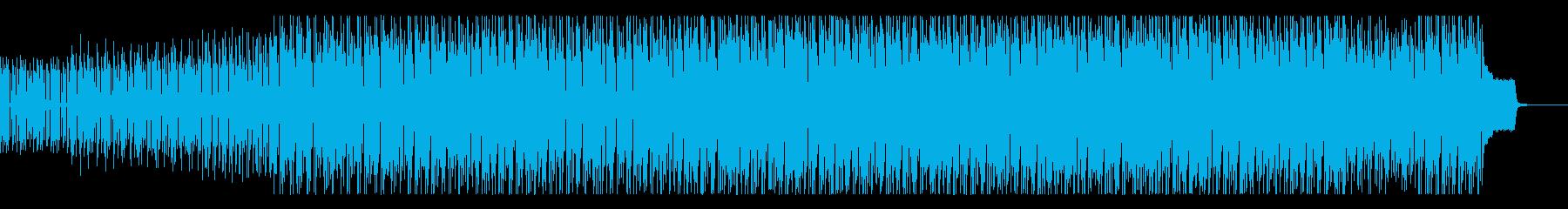 ジャングルのマイナスイオンを感じる曲の再生済みの波形