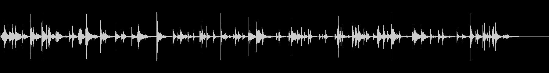 風鈴の未再生の波形