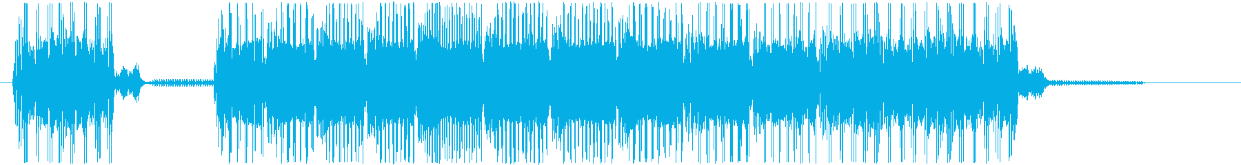 レトロなネオクラシカルなゲームオーバーの再生済みの波形