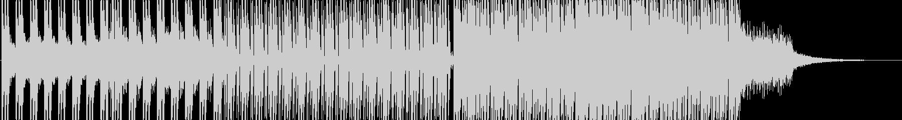 爽やかで前向きな四つ打ちポップスの未再生の波形