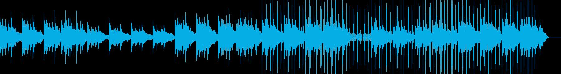 リラックスして落ち着いたクリスタルソングの再生済みの波形