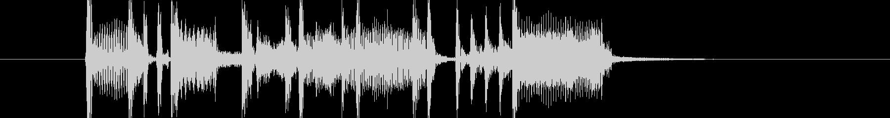 オルガンとベースのファンキーなジングルの未再生の波形