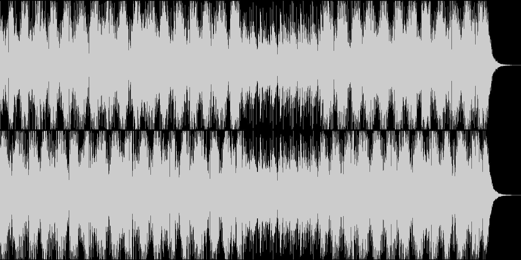 恐怖と緊迫感を醸し出すBGMの未再生の波形
