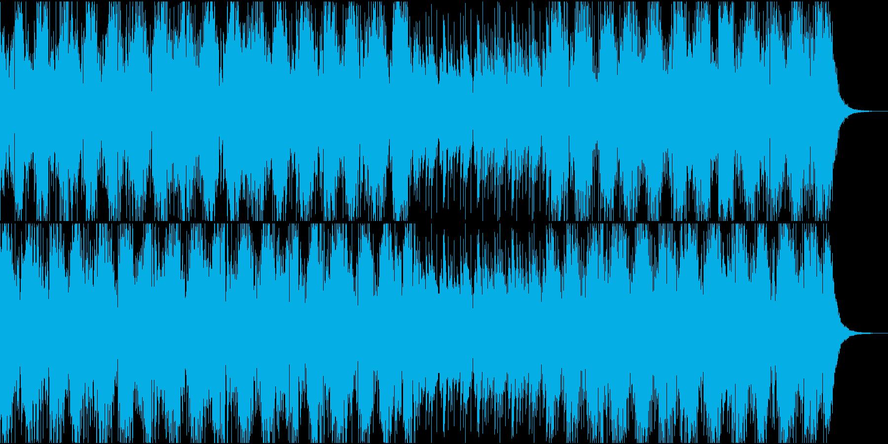 恐怖と緊迫感を醸し出すBGMの再生済みの波形