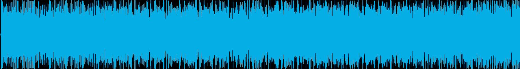 15秒の明るく爽やかエレクトロダンス曲の再生済みの波形