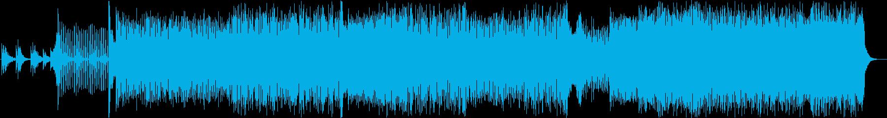 ハウス。ピアノソロの再生済みの波形