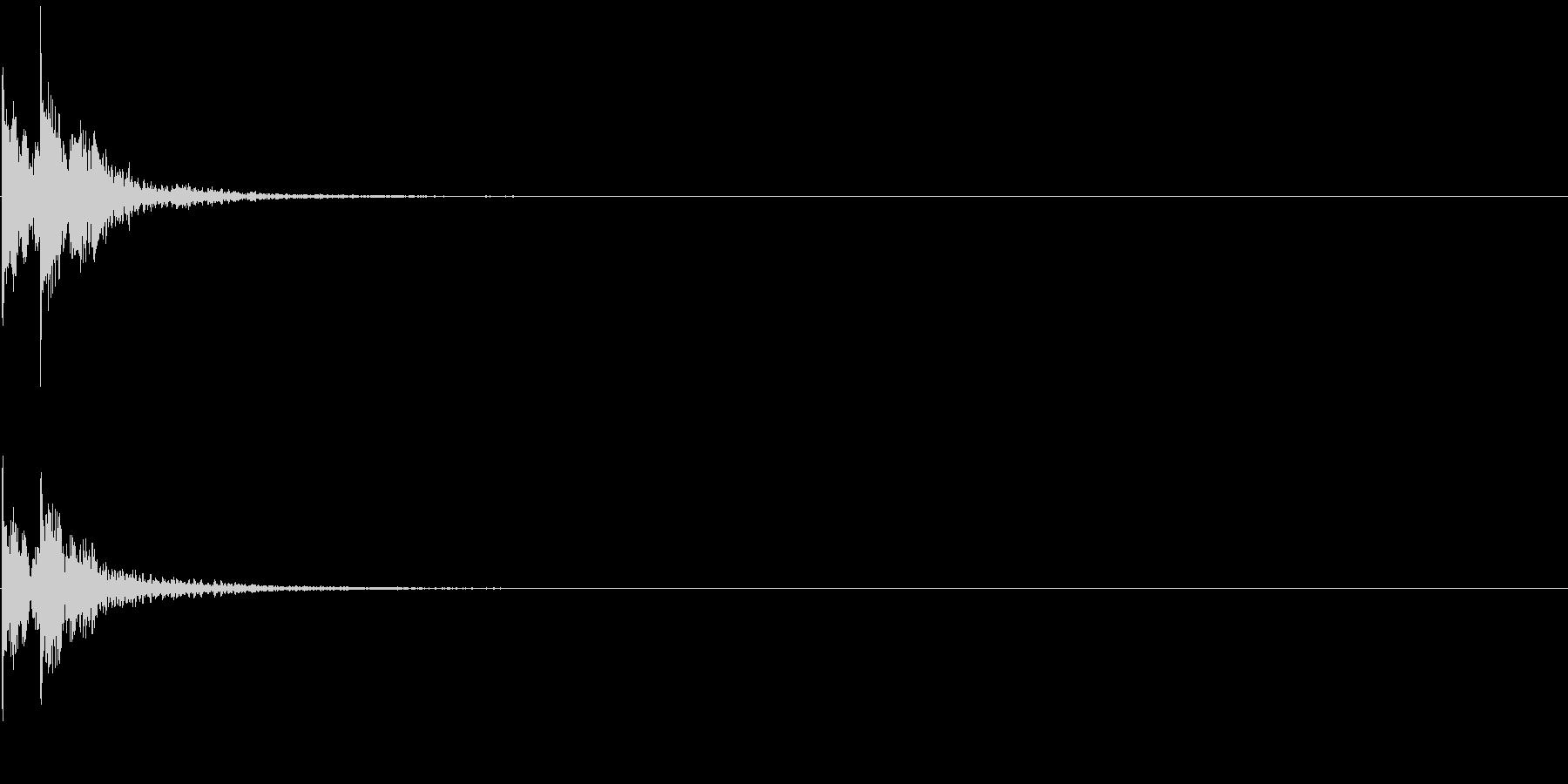 和太鼓「どどん」中太鼓の太い音-11の未再生の波形