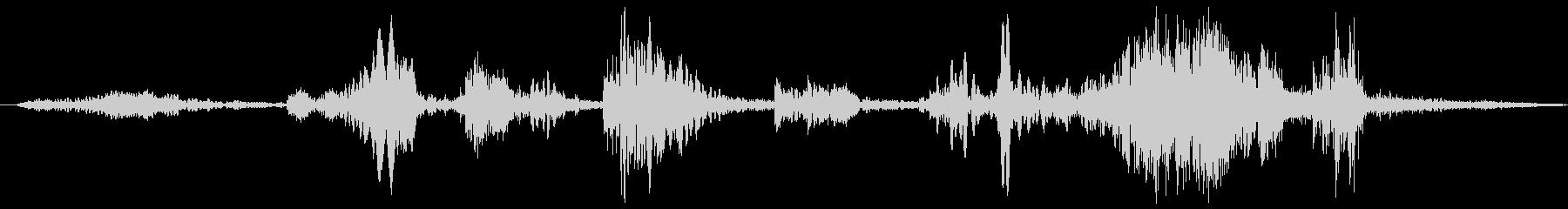 クイックワイプビープ音の未再生の波形
