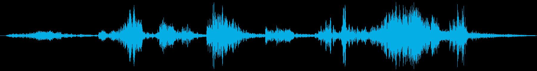 クイックワイプビープ音の再生済みの波形