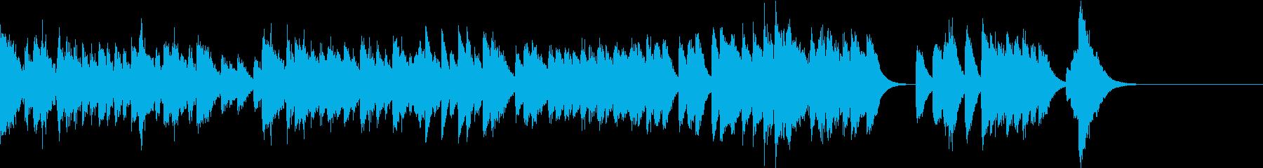 華麗で荒々しいスペイン調のピアノジングルの再生済みの波形
