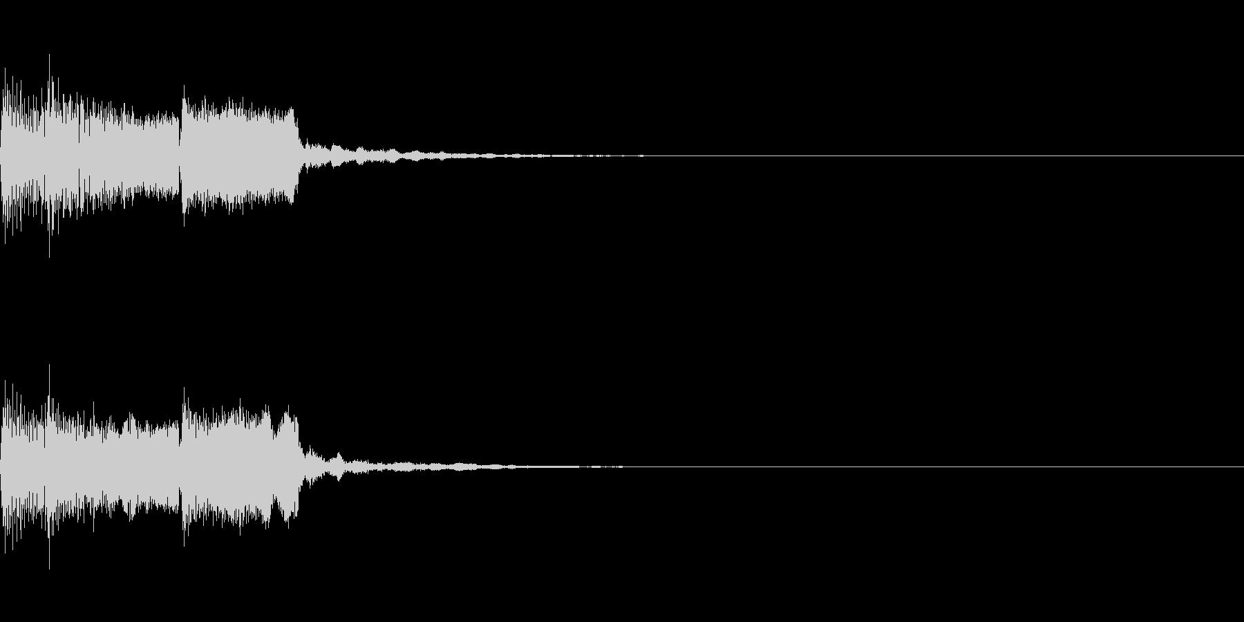 アイキャッチ、ロゴA04の未再生の波形