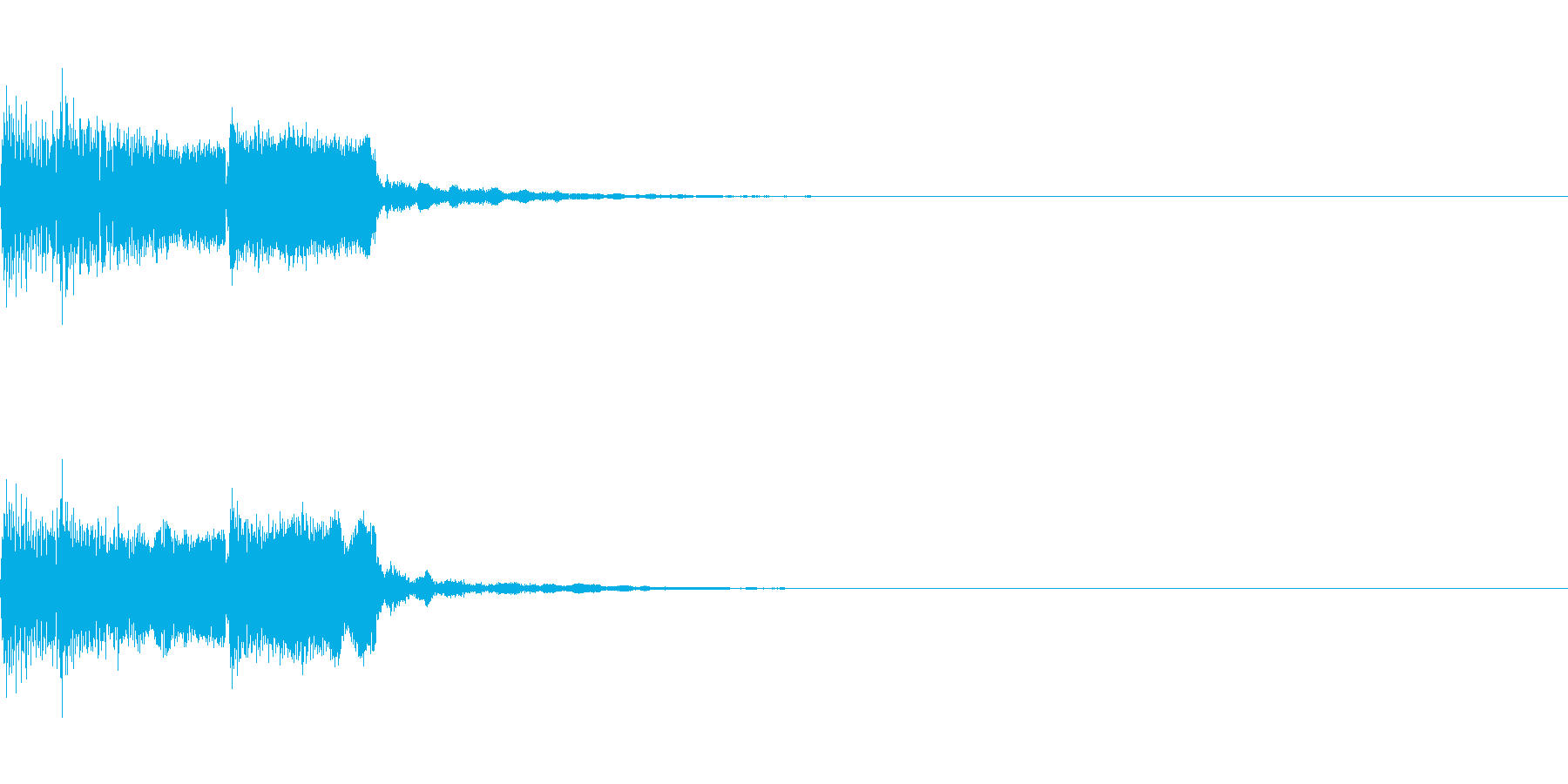 アイキャッチ、ロゴA04の再生済みの波形