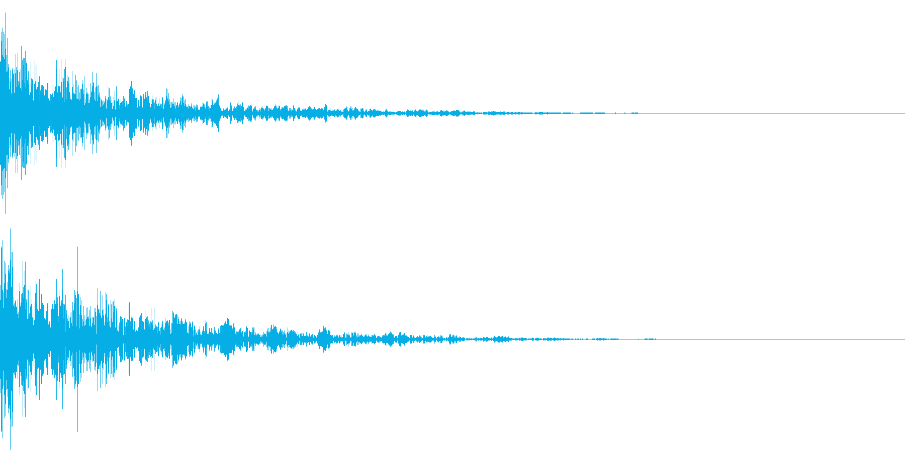 ドーン-37-2(インパクト音)の再生済みの波形