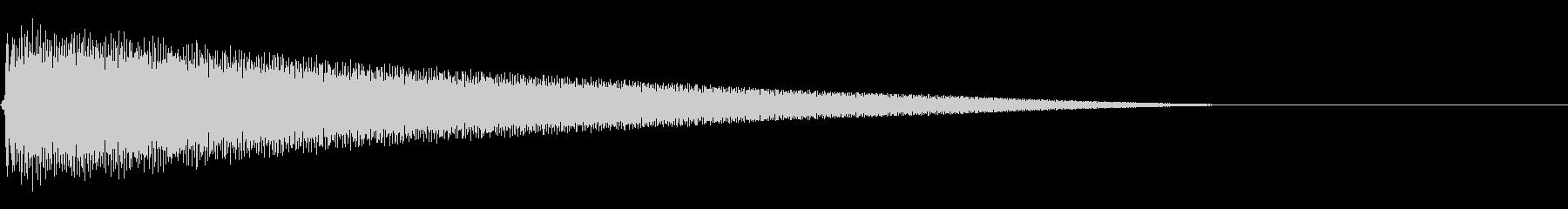 ごーーーーーんの未再生の波形